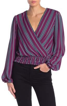 June & Hudson Striped Long Sleeve Blouse