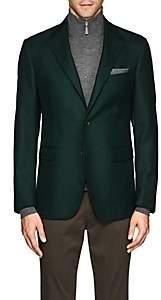 John Vizzone Men's Neat Virgin Wool Two-Button Sportcoat - Dk. Green
