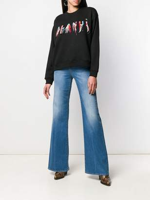 Pinko flared high rise jeans