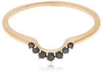 Anna Sheffield Tiara Band Ring W/ Black Diamonds