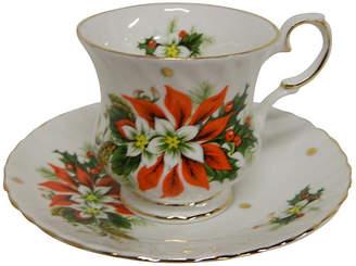 One Kings Lane Vintage English Royalty Teacup - Noel