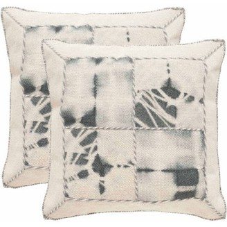 Safavieh Dip-Dye Quartre Patch Pillow, Set of 2