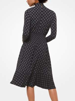 MICHAEL Michael Kors Foulard-Print Matte-Jersey Dress