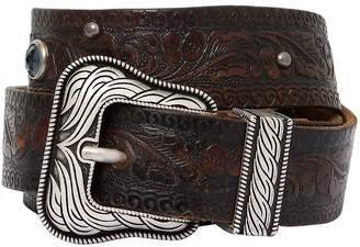 American Vintage Leather Belt W/Studs
