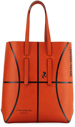 Calvin Klein Men's The Catch Basketball Leather Tote Bag
