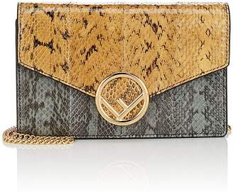 Fendi Women's Snakeskin Chain Wallet