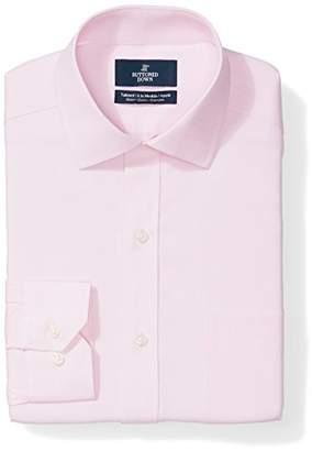 Buttoned Down Men's Tailored Fit Stretch Poplin Non-Iron Dress Shirt