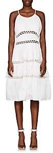 Zac Posen WOMEN'S RUCHED COTTON-BLEND TIERED DRESS