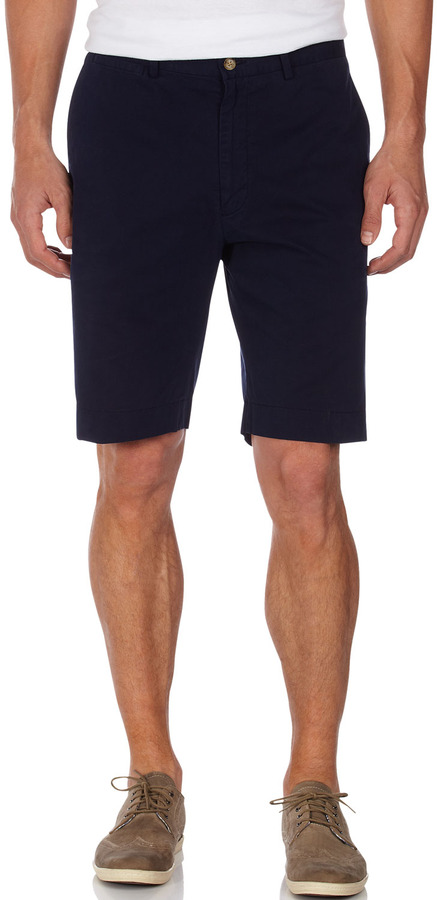 Bobby Jones Flat-Front Twill Shorts, Navy