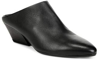 Vince Women's Vigo Leather Pointed Toe Mules