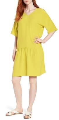 Eileen Fisher Drop Waist Tencel(R) Lyocell Blend Dress