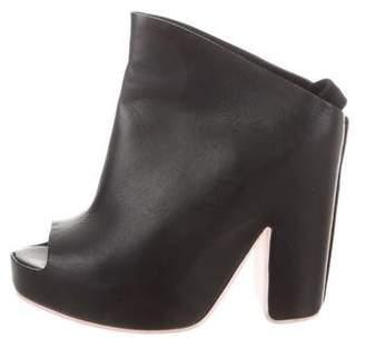 Balenciaga Peep-Toe Platform Mules