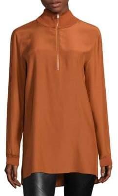 Lafayette 148 New York Daryn Silk Pullover Blouse