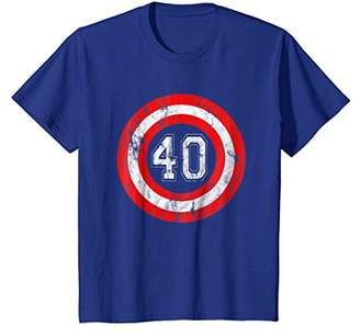 Captain 40 Year Old Birthday Party Funny Shield Gift T Shirt