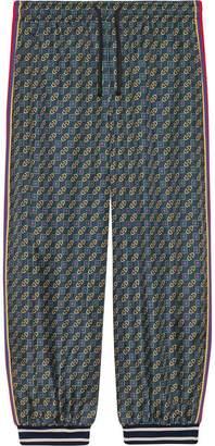 Gucci Bi-material harem style pant