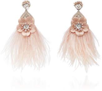 63250f88a Ranjana Khan Exclusive Pale Pink Ostrich Flower Earrings