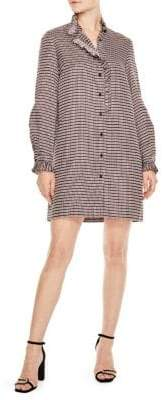 Sandro Country Club Music Checked Shirt Dress