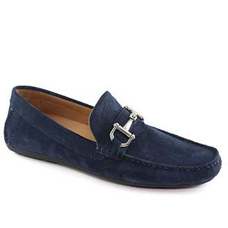 Driver Club USA Mens Genuine Leather Made in Brazil Park Ave Buckle Loafer