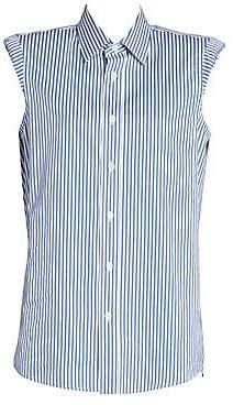 Dries Van Noten Women's Striped Cap Sleeve Button-Down Shirt