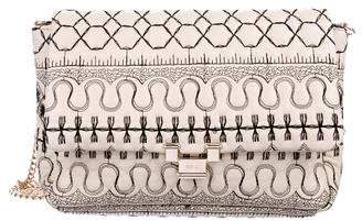 RED Valentino Quilted Chain-Link Crossbody Bag