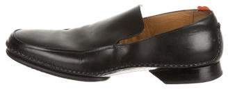 Hermes Leather Round-Toe Loafers