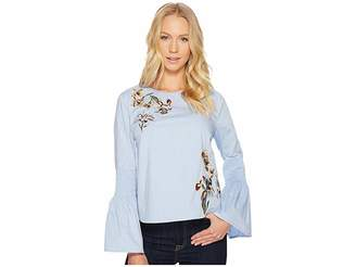 Catherine Malandrino Long Sleeve Ruffle Dress Shirt Women's Clothing