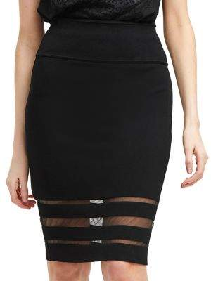 French Connection Kara Crepe Knee-Length Skirt