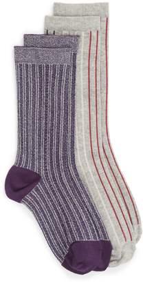 Treasure & Bond 2-Pack Vertical Stripe Crew Socks