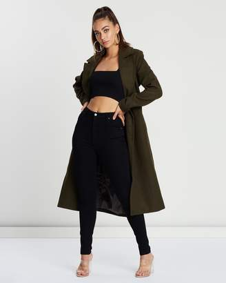 Missguided Belted Military Formal Coat
