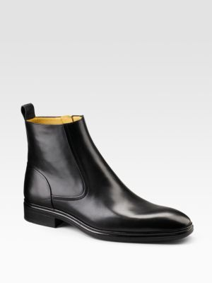 Bally Dress Leather Ankle Boots $550 thestylecure.com