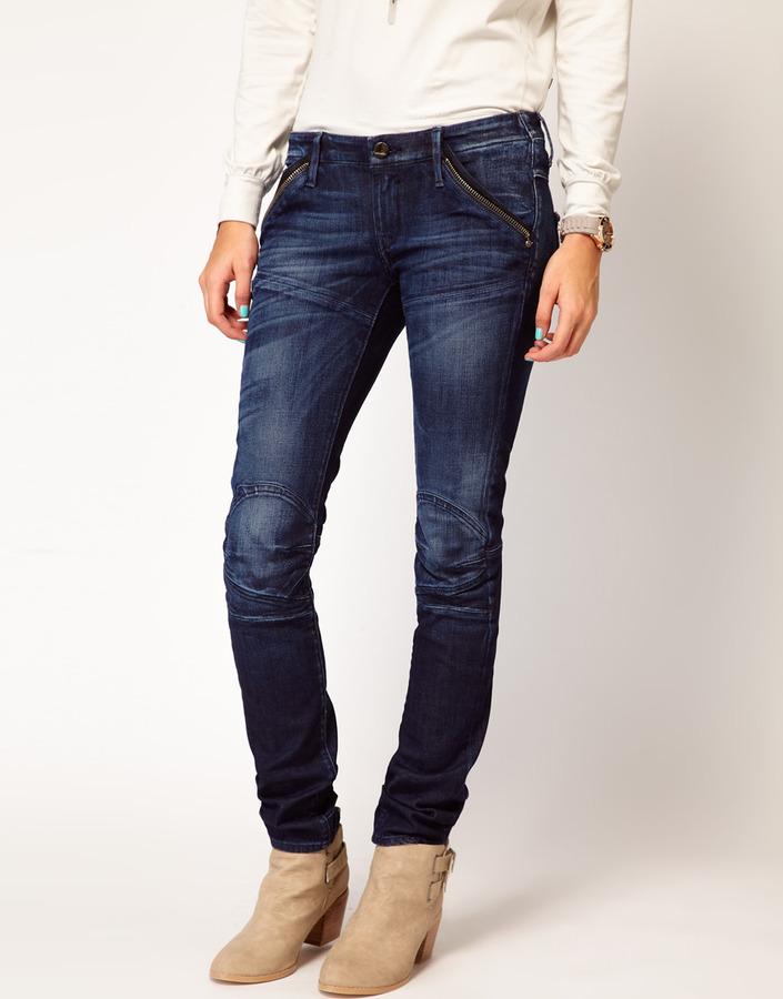 G-Star Biker Skinny Jeans