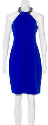 Carmen Marc Valvo Embellished Knee-Length Dress