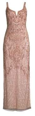 Aidan Mattox Embellished Sheath Gown