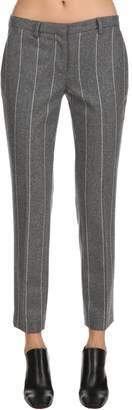 Lardini Wool Pinstripe Pants