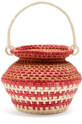 SENSI STUDIO Sculptured toquilla-straw basket bag