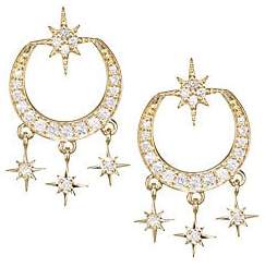 Sydney Evan Women's Starburst Diamond & 14K Yellow Gold Chandelier Drop Earrings