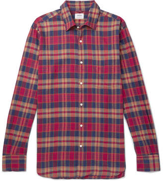 Aspesi Slim-Fit Checked Cotton-Flannel Shirt