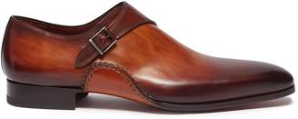 Magnanni Monk strap leather loafers