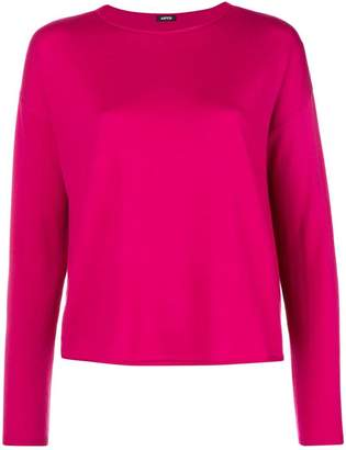 Aspesi boat neck knitted top