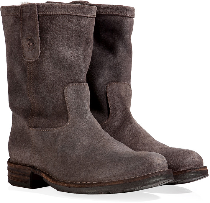Fiorentini+Baker Fiorentini & Baker Suede Boots with Fur Lining in Coffee