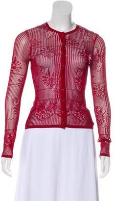 Christian Dior Crocheted Button-Up Cardigan