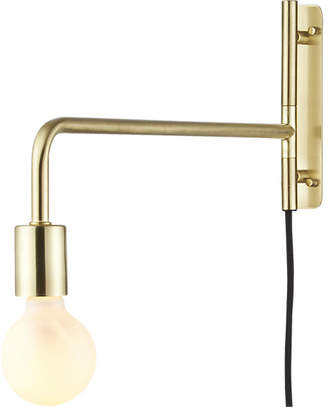 CB2 Swing Arm Brass Wall Sconce - ShopStyle