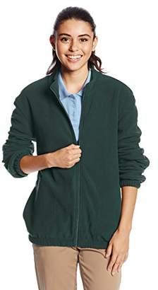Classroom Juniors Adult Unisex Polar Fleece Jacket, Green