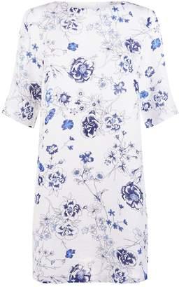 120% Lino 120 Lino Floral Tunic Dress
