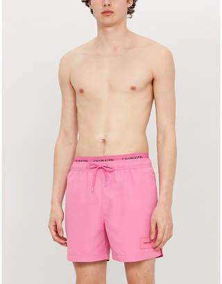 23c0ea1c00 Calvin Klein Logo-waist mesh-lined drawstring swim shorts