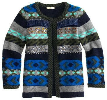 J.Crew Girls' stripe Fair Isle jacket