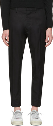 Dsquared2 Black Hockney Trousers $495 thestylecure.com