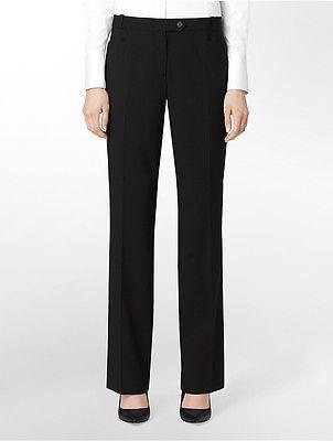 Calvin KleinCalvin Klein Womens Essential Skinny Black Suit Pants