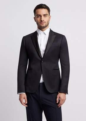 Emporio Armani Single-Breasted Tuxedo Jacket With Satin Lapels