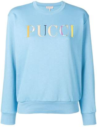 Emilio Pucci long sleeved logo sweater